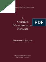 ALSTON, W. - A Sensible Metaphysical Realism (2001)