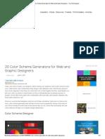 20 Color Scheme Generators