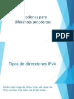 Tipos de Direcciones IPv4