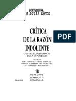 Critica de La Razon Indolente - De Souza Santos