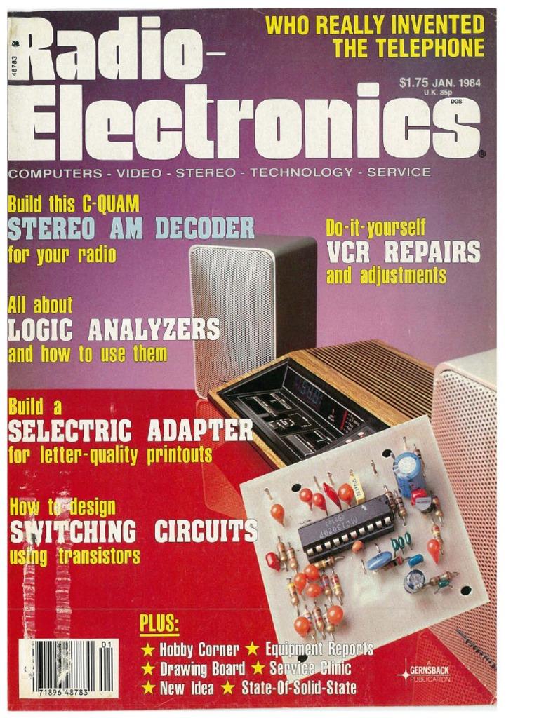 Re 1984 01 Stereoscopy Television Lm1800 Fm Stereo Demodulator Circuit Diagram
