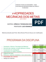 Prop Mecanicas Dos Metais Aulas 2 e 3 (1)