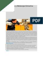 Mineralurgia y Metalurgia Extractiva
