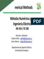 Métodos Numéricos Para Ingeniería Eléctrica_2013