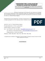 Cuestionario Para Proveedores Críticos 2014