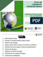 Legislación del Agua y el Uso Minero, G. Bocchio, MAYO 2014, 235slides