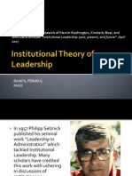 Institutional Theory of Leadership