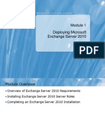 Deploying MS Exchange 2010