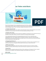 Cara Menggunakan Twitter Untuk Bisnis