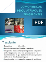 Comorbilidad Psiquiatriaca en Transplantes