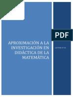Aproximacion a La Investigacion en Didactica de l a Matematica