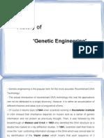 History of Genetic engineering