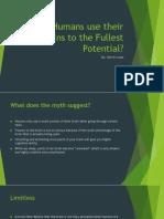 option 2 - popular media myths