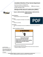 Whirlpool Microhood Combination (MHC) Model