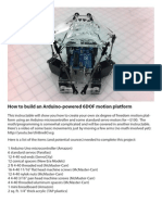 Ardruino 6DOF Motion Platform LoRes