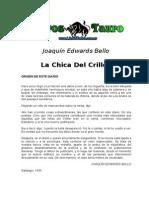 La Chica Del Crillc3b3n Joaquin Edwards Bello Octubre