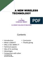 Dash7 a New Wireless Technology