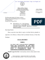 Defendant's Reply to Plaintiffs' Opposition to Defendant's Motion to Dismiss New Jersey Lawsuit