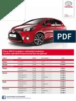 Toyota Yaris - Cenník Júl 2014