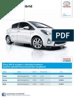 Toyota Yaris Hybrid - Cenník Júl 2014