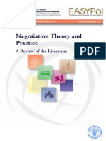 Negotiation Theory and Practice