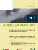 Decoding REDD :Issues of Scale An Asia-Pacific Perspective