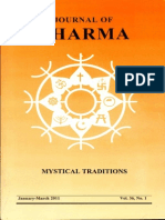 Journal of Dharma Jan - March. 2011 Vol. 36 No. 1