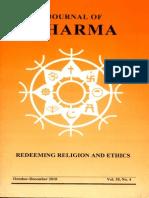 Journal of Dharma Oct - Dec. 2010 Vol. 35 No. 4