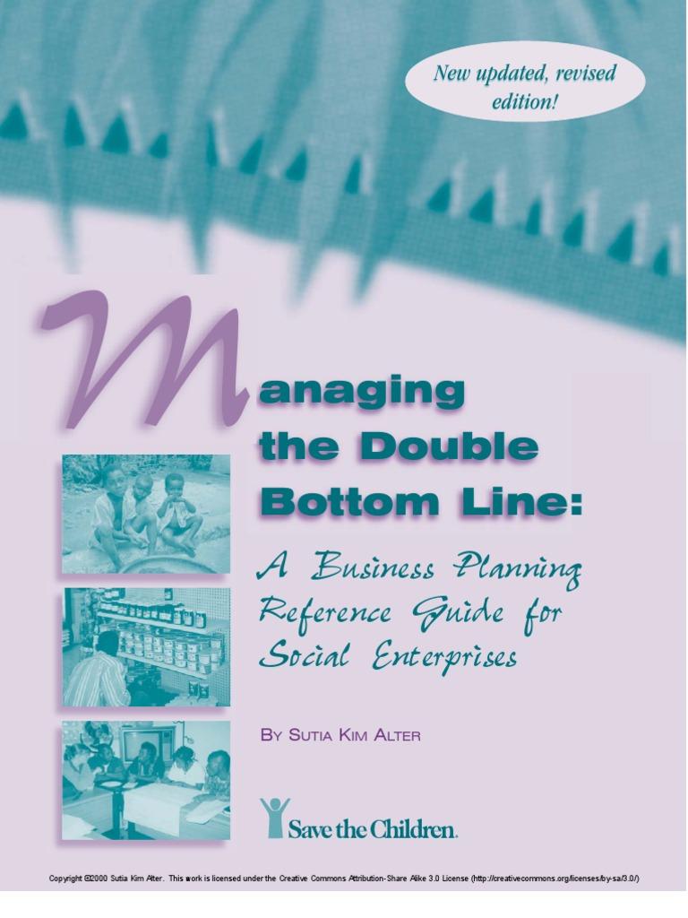 Managing the Double Bottom Line | Social Enterprise | Business Plan
