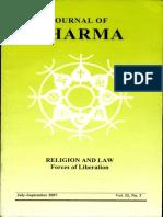 Journal of Dharma July - Sep 2007 Vol. 32 No. 3