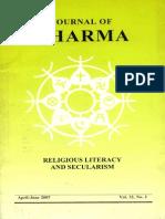 Journal of Dharma Apr - June 2007 Vol. 32 No. 2