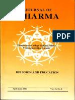 Journal of Dharma Apr. - June 2006 Vol. 31 No. 2