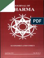 Journal of Dharma Apr - June 2013 Vol. 38 No. 2