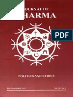 Journal of Dharma July - Sep. 2013 Vol. 38 No. 3