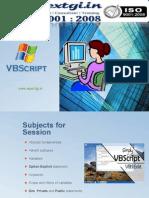 Fundamentals of VB Script