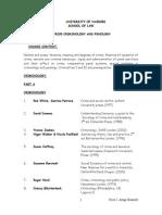 Criminology & Penology Course Outline