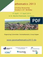 Abstracts Geomathematics 2013
