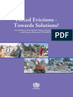 Forced Evictions - Towards Solutions? Second Report of the Advisory Group on Forced Evictions to the Executive Director of UN-Habitat