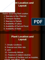 Plant Location and Layout