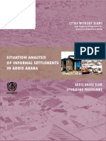 Situation Analysis of Slum Settlements in Addis Ababa