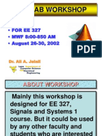 MATLAB Workshop Lecture 1