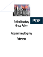 Active Directory GP Programming and Registry Reference