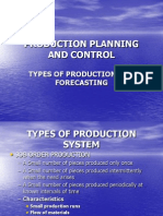 Types of Production System and Forecasting