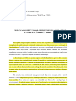 Mudanca Constitucional Desempenho Do Legislativo e Consolidacao Institucional