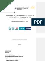Lineamientos Del PVU y SNS 2013