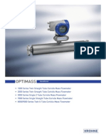 9080 Optimass 7300 Flowmeter Manual
