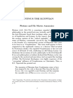The Philosophy of Plotinus the Egyptian Selections