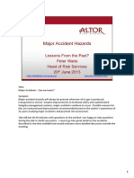 Major Accident Hazards