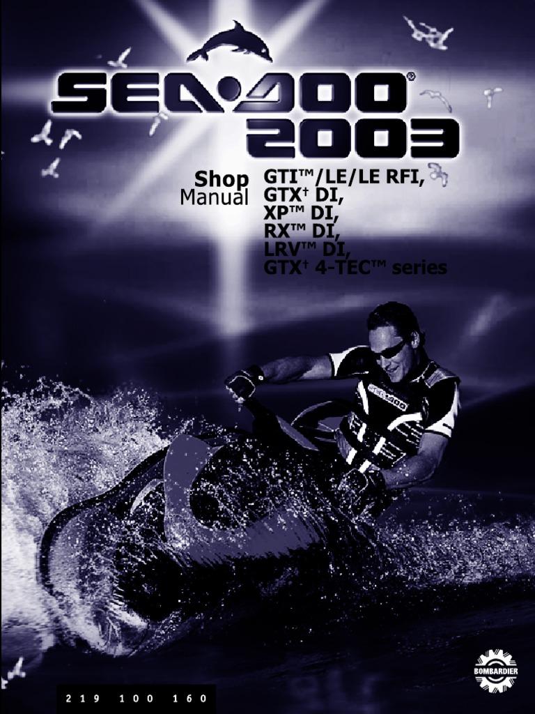 1998 sea doo service manual 2 carburetor motor oil
