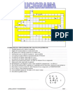 Crucigrama de Calculos Químicos II